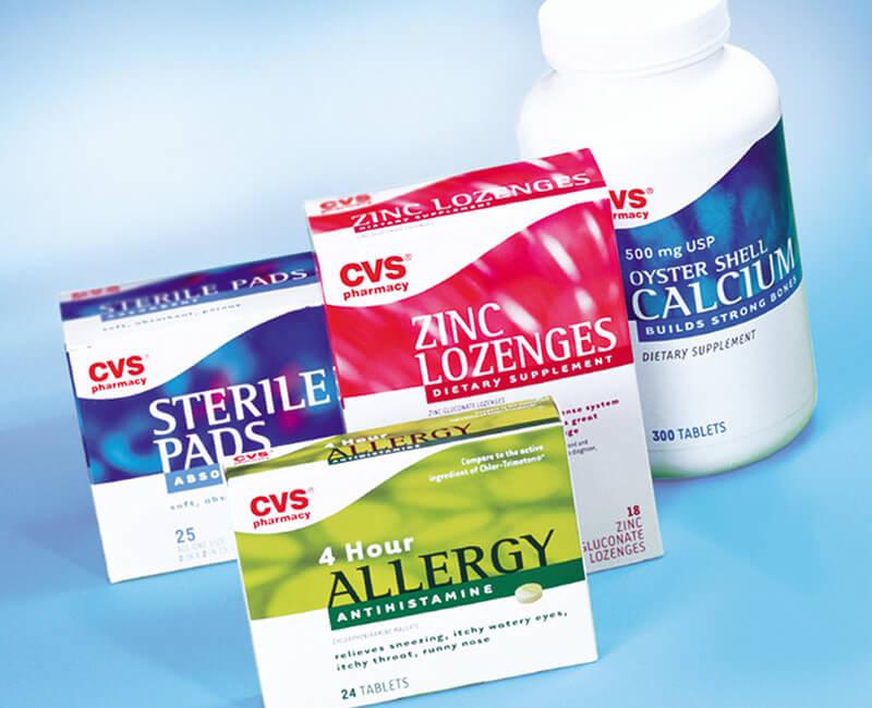 بسته بندی محصولات دارویی CVS