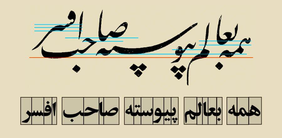 تایپوگرافی فارسی، رضا عابدینی