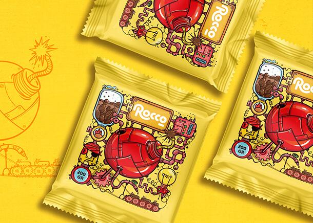 طراحی بسته بندی شکلات