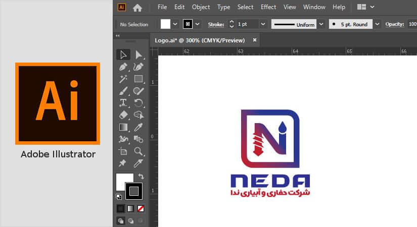 نرم افزار ilustrator بهترین نرم افزار طراحی لوگو
