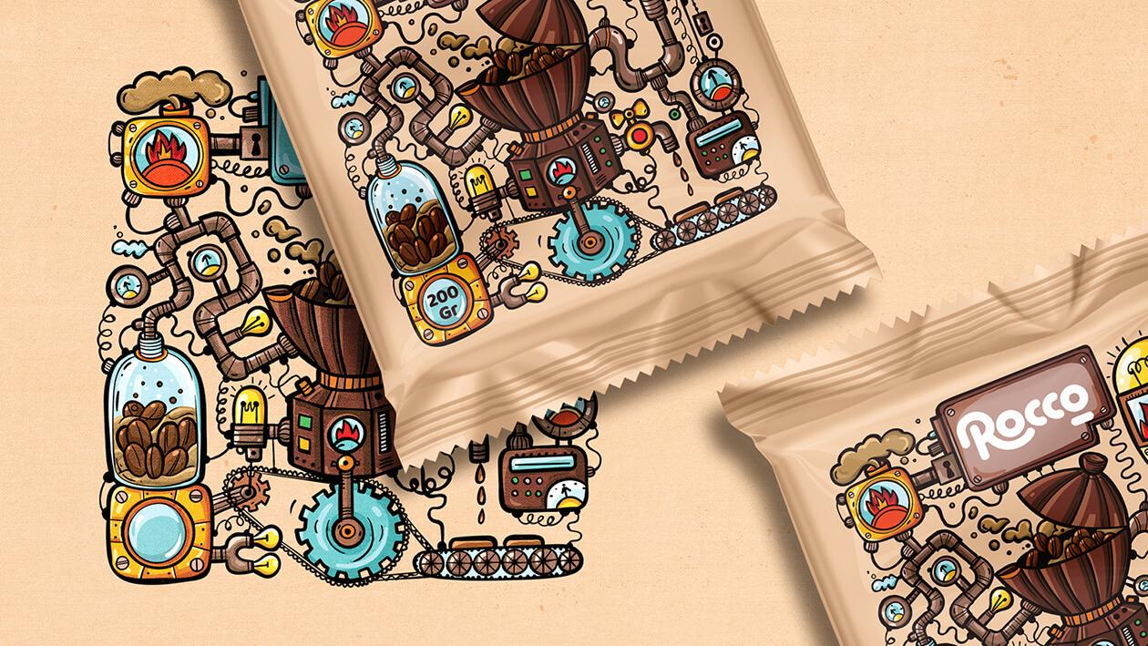 بسته بندی شکلات طعم دار