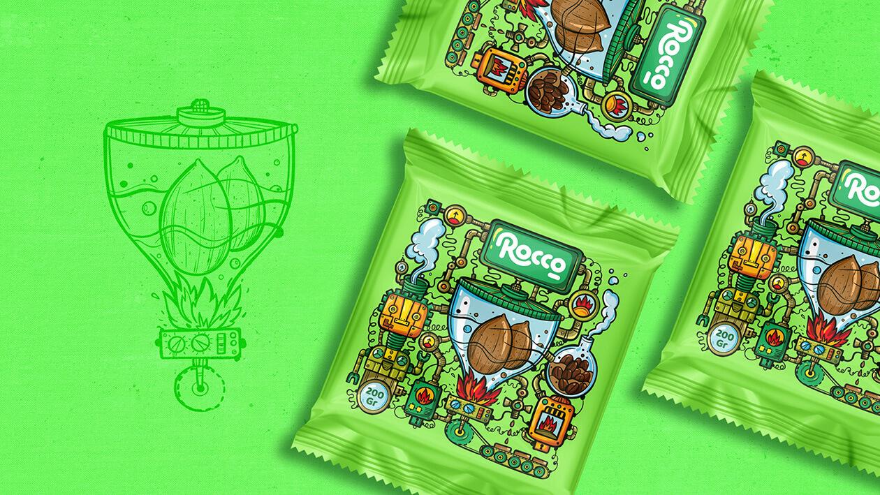 طراحی گرافیک بسته بندی شکلات