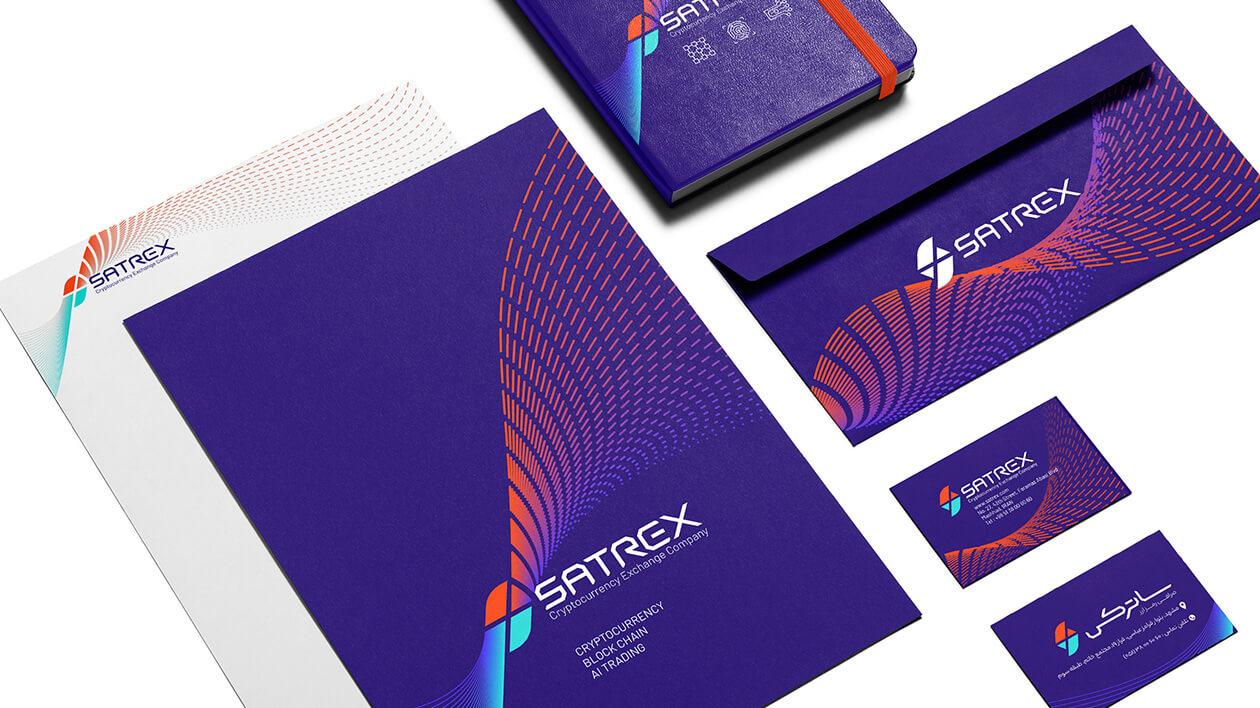 طراحی اوراق اداری شامل طراحی سربرگ، پاکت نامه و کارت ویزیت