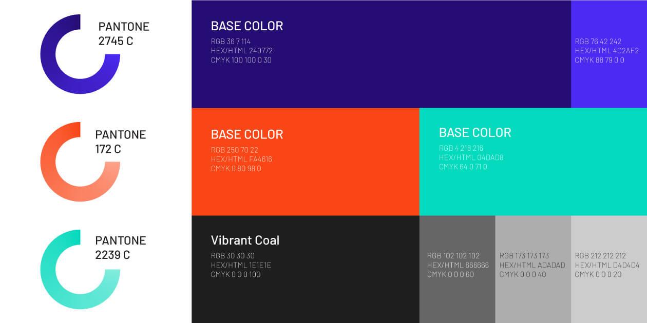 طراحی پالت رنگ استاندارد برند ساترکس از المان های هویت بصری