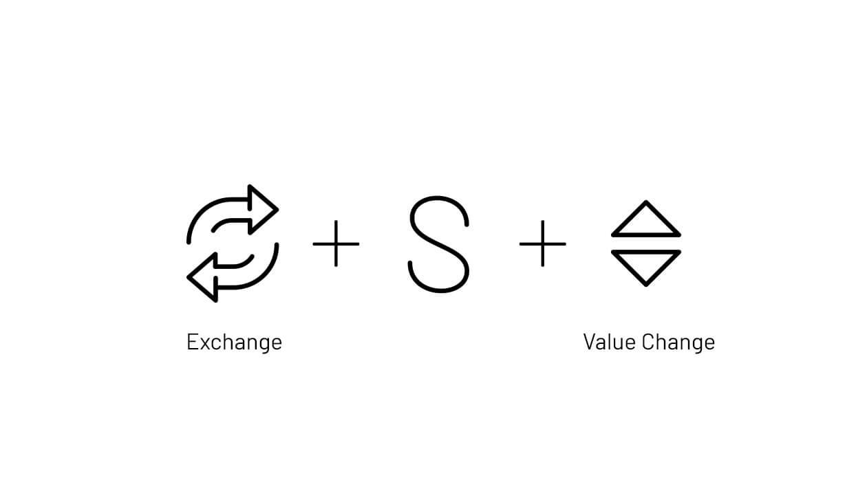 المان های استفاده شده در طراحی لوگوی صرافی ارز دیجیتال ساترکس